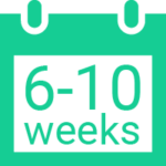 calendar icon 6-10 weeks
